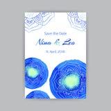 Schablone A4 mit blauem Lotus Lizenzfreie Stockfotografie