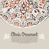 Schablone mit dekorativem Element im ethnischen Lizenzfreie Stockfotos
