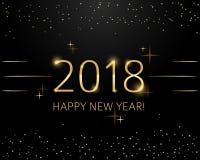 Schablone mit 2018 Designen für Feiertagsgrußkarte, Einladung, Kalenderplakat, Fahne Lizenzfreie Stockfotografie