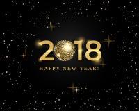 Schablone mit 2018 Designen für Feiertagsgrußkarte, Einladung, Kalenderplakat, Fahne Stockfotografie