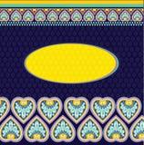 Schablone mit ethno Motiven Stockfoto