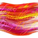 Schablone mit hell rotem Fleck Stockfoto
