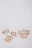 Schablone mit Teeschale und Teekanne Lizenzfreie Stockbilder
