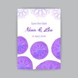 Schablone A4 mit Violet Lotus Stockfotos
