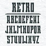 Schablone mutiger Serifguß in der Westart Lizenzfreies Stockbild