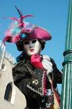 Schablone am Quadrat der Str.-Markierung, Venedig-Karneval Stockfoto