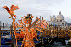 Männliche Maske am Karneval in Venedig Stockfotos