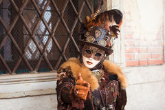 Schablone in Venedig, Italien Lizenzfreies Stockbild