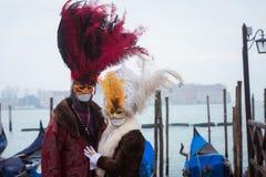 Schablone in Venedig, Italien Lizenzfreie Stockfotos