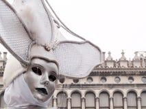 Schablone am Venedig-Karneval Stockbilder