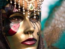 Schablone am Venedig-Karneval Stockfotografie