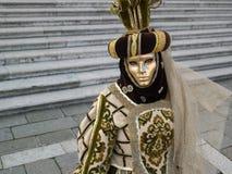Schablone am Venedig-Karneval Stockfoto
