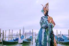 Schablone am Venedig-Karneval Stockbild