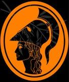 Schablone von Athene profil Stockbilder