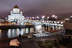 Schablone von Christus der Retter in Moskau Lizenzfreies Stockfoto