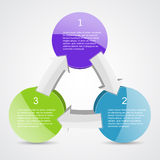 Geschäftsprojekt mit Pfeilen und Textbereichen Stockbild