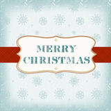 Schablonen-alte Weihnachtskarte Stockbild