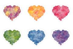 Schablonen der Grußkarte für Valentinstag Lizenzfreie Stockbilder