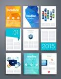 schablonen Design-Satz Netz, Post, Broschüren Lizenzfreies Stockfoto
