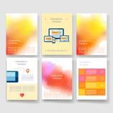 schablonen Design-Satz Netz, Post, Broschüren Lizenzfreie Stockfotografie