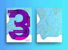 Schablonen entwirft mit abstraktem Hintergrund und modischer vibrierender Co Stock Abbildung