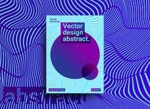 Schablonen entwirft mit abstraktem Hintergrund und modischer vibrierender Co Lizenzfreie Abbildung