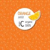 Schablonen für Aufkleber des Orangensaftes Stockbilder