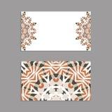 Schablonen für den Gruß und Visitenkarten, Broschüren, Abdeckungen mit Blumenmotiven Lizenzfreie Stockfotografie