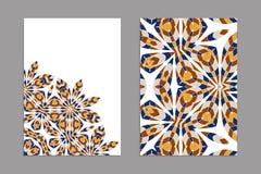Schablonen für den Gruß und Visitenkarten, Broschüren, Abdeckungen mit Blumenmotiven Stockfotos