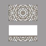 Schablonen für den Gruß und Visitenkarten, Broschüren, Abdeckungen mit Blumenmotiven Orientalisches Muster mandala Stockfoto