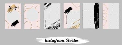 Schablonen für Social Media-Posten, instagram Geschichte vektor abbildung
