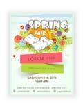 Schablonen-, Fahnen- oder Fliegerdesign für Frühlingszeit Lizenzfreie Stockbilder
