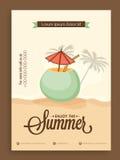 Schablonen-, Fahnen- oder Fliegerdesign für Sommer Stockfoto