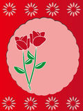 Schablonen-Feldauslegung des Rotes rosafarbene Lizenzfreie Stockfotos