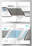Schablonen für Broschüre, Zeitschrift, Flieger, Broschüre Abdeckung Schablone, flacher Plan in der Größe A4 Wissenschaftliche med Stockbild