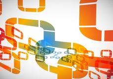 Schablonen-Hintergrund Stock Abbildung