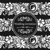 Schablonen-Hochzeits-Einladung Lizenzfreie Stockfotos