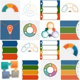 Schablonen Infographics drei und vier Positionen Stockbild