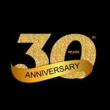 Schablonen-Logo-30. Jahrestags-Vektor-Illustration EPS10 Lizenzfreies Stockfoto