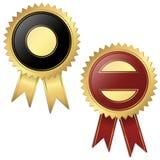 2 Schablonen - Qualitätssiegelschwarzes und -ROT Lizenzfreie Stockbilder
