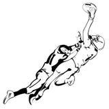 Schablonen-Rugby stockfotografie