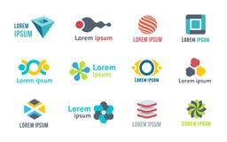 Schablonen und Elemente für Logo Lizenzfreies Stockfoto