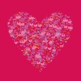 Schablonen-Valentinsgrußgrußkarten Stockbild