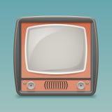 Schablonen-Vektor-Illustration Retro- des Weinlese alte Fernsehplaceholder-Rahmen-Ikonen-realistische flache Design-3d Stockfotografie