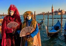 Schablonen in Venedig, Italien stockfoto