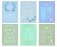 Schablonen von abstrakten meeres-themenorientierten Plänen lizenzfreie abbildung