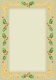 SchablonenAlte Welt Weihnachtsfeld Lizenzfreies Stockbild