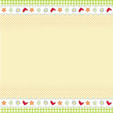 Schablonenauslegung für Grußkarte Lizenzfreies Stockbild