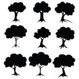 Schablonenbäume Raster #1 #1 Lizenzfreie Stockfotografie