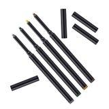 Schablonenbleistift des Eyeliners 3d Bilden Sie realistischen Stift zwischenlage zeichenstift Kosmetische Make-upmetalleyeliner-B lizenzfreie abbildung